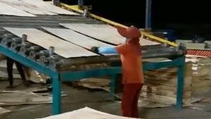 柬埔寨56米双层烘干机运行